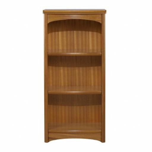 Nathan Furniture 6994 Mid Height Single Bookcase - Editions Teak