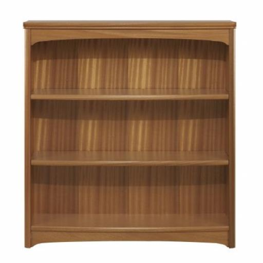 Nathan Furniture 6993 Mid Height Double Bookcase - Editions Teak