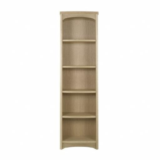 Nathan Furniture 8992 Tall Single Bookcase - Editions Oak