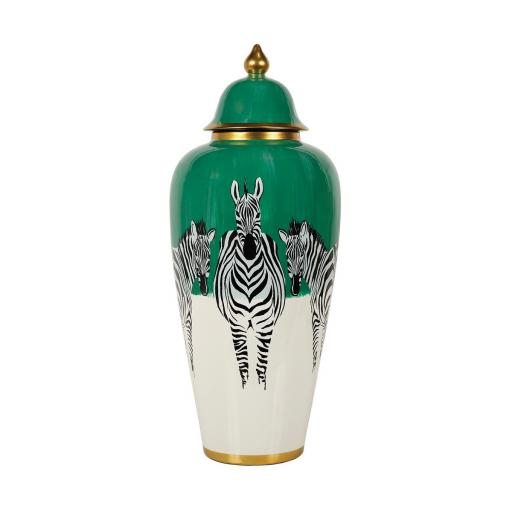 Zebra Jar Large (MY077) - Mindy Brownes
