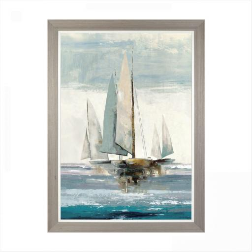 Allison Pearce - Full Sails Framed & Unglazed, 77 x 104cm