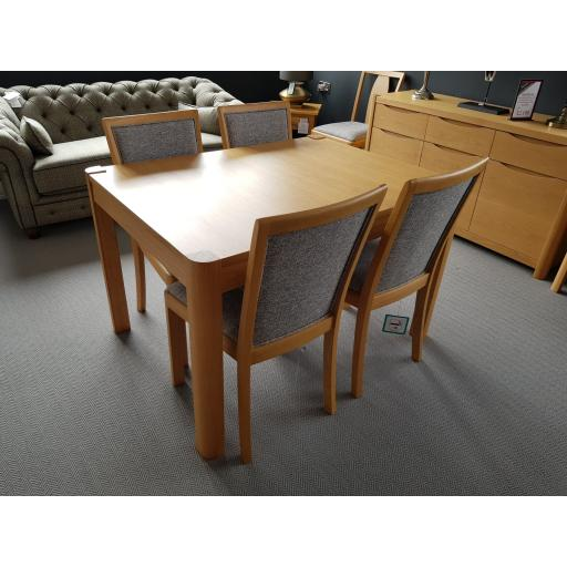 Stockholm 120cm Extending Table & Chairs - Winsor Furniture - Showroom Clearance