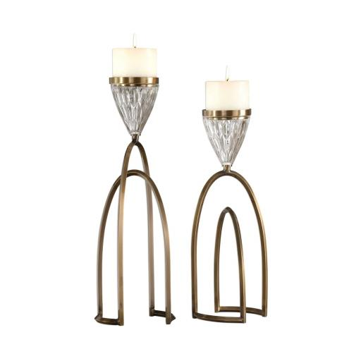 Carma Candle holders Set/2 (18920) - Mindy Brownes