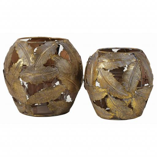 Mila Candle Holders Set/ 2 (FUZ047) - Mindy Brownes