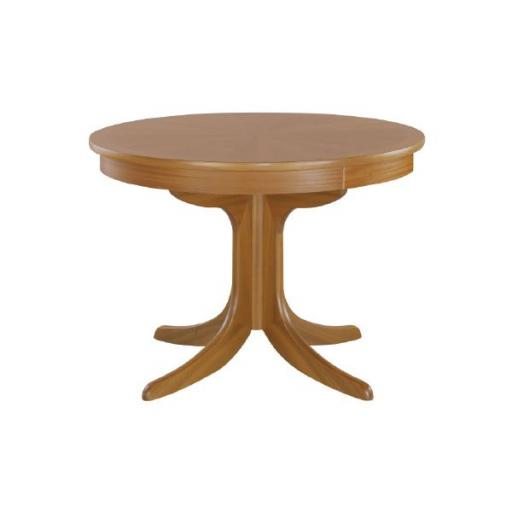 Nathan Furniture 2164 Circular Pedestal Dining with sunburst top Table - Classic Teak Range