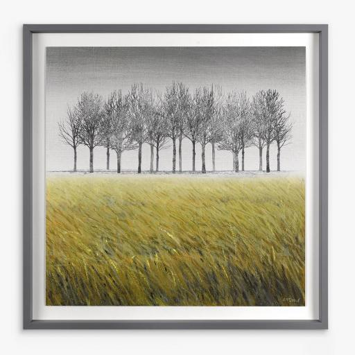 Adelene Fletcher - Trees Standing Ovation Framed Print & Mount, 69 x 69cm, Green/Multi