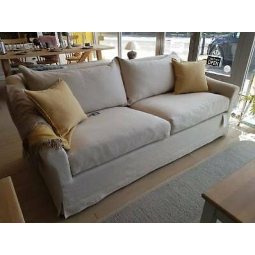 Neptune Long Island Grand Sofa in Pale Oat - Neptune Furniture Clearance