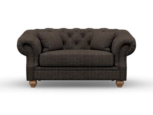 Deepdale Love Seat Herringbone Charcoal_Wood Bros.jpg