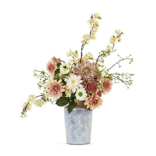 Dahlia & Apple Blossom Bouquet - Neptune