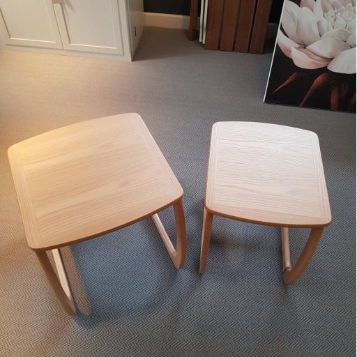 5635 Burlington Nest of 2 Tables - Nathan Furniture - Shades Oak - Occasions Oak