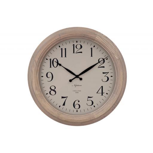 Harrison Solid Oak Wall Clock - Seasoned Oak- Neptune Furniture