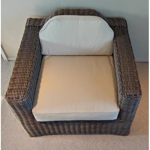 Tresco Armchair with Natural Cushions - Reed- Neptune Furniture Clearance